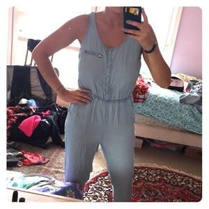 Forever 21 Chambray Sleeveless Sexy Back Jumpsuit!